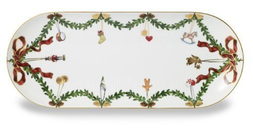 - Royal Copenhagen Star Fluted Christmas Oval Serving Platter by Royal Copenhagen