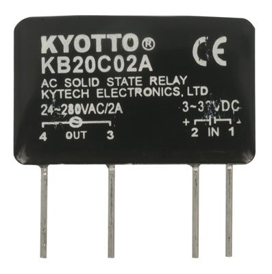 Kyoto Electric KB20C02A Solid State Relay, 32V DC Input, 2 Amp, 280V AC Output, 4-Pin, 1.5