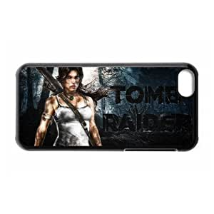 Areebah Nadwah Dagher's Shop DIY Design 3 Game Tomb Raider Print Black Case With Hard Shell Cover for Apple iPhone 5C