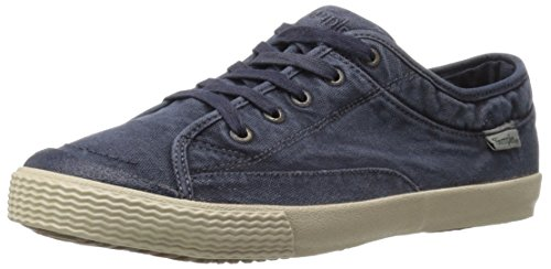Einfacher Herren Wingman-D Fashion Sneaker Marine Leinwand