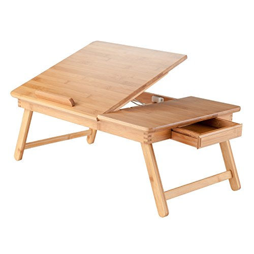 Winsome Wood Baldwin Lap Desk With Flip Top Bamboo In The