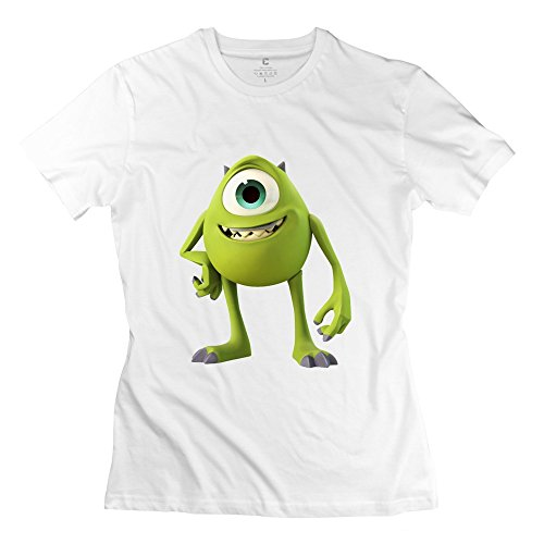PTCY Women's Tee Customize Monster University Billy Crystal XS White
