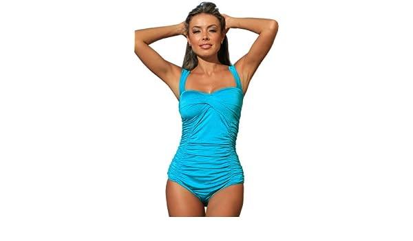 UjENA Aqua La Gabrielle 1-PC Classic Classy Designer Swimsuit