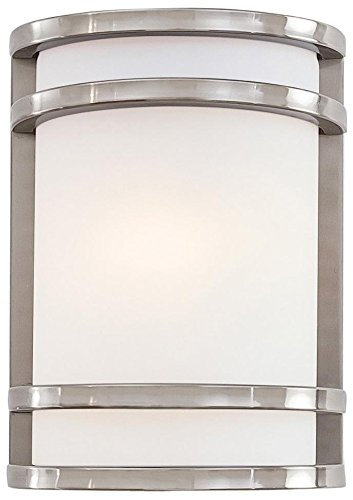 Minka Lavery 9801-144 1-Light Outdoor Pocket Lantern, Brushed Stainless Steel Finish
