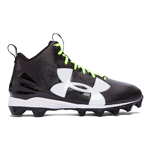 Under Armour Mens UA Crusher RM Wide Football Cleats 11.5 Black