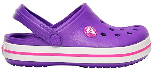 crocs Crocband Kids 10998-410 Unisex - Kinder Clogs Violett (Neon Purple/Neon Magenta)