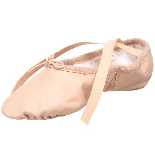 (SANSHA Silhouette Leather Ballet Slipper,Pink,15 M US Women's/11 M US Men's )