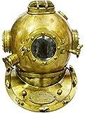 PIRU Scuba Diving Divers Helmet U.S Navy Mark V Solid Steel Original Antique 18''