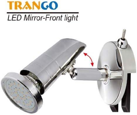 Trango LED Mirror light TG2248 I bathroom lamp I bathroom light with ON OFF switch included 1x GU10 LED bulb