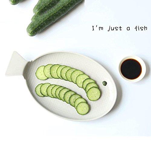 LI plato- Plato de pescado de estilo japonés Hogar Plato de ...