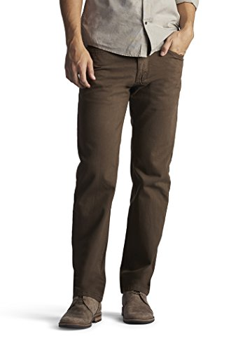 LEE 20089 Men's Regular Fit Straight Leg Jeans, Walnut - 30W