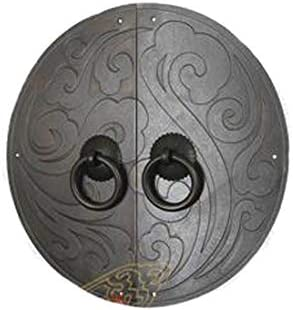Tiradores de muebles Perilla cl/ásica Manija de bronce antiguo Xiangyun Manija de la puerta del armario Placa frontal del gabinete-BronceULa aguja-11Cm Aldaba antiguo
