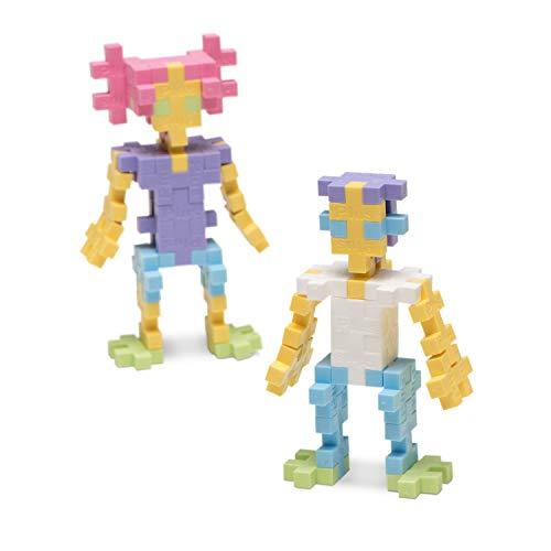 PLUS PLUS - Open Play Set - 1200 Piece - Pastel Color Mix, Construction Building Stem Toy, Interlocking Mini Puzzle Blocks for Kids