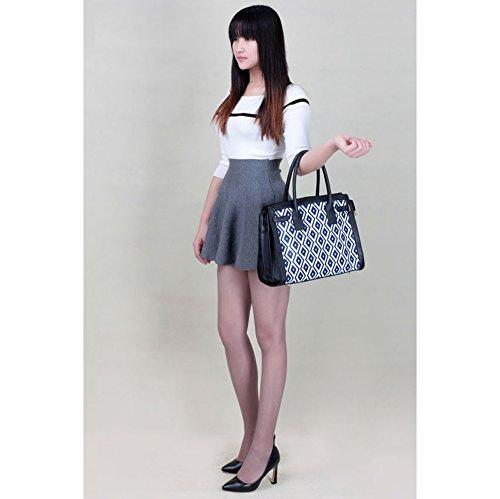A4 Sac École Sacs Taille Fourre Grete Sacs Noir 325 Qualité Tout Élégance LeahWard® À Main Femme Bleu FOPq7w