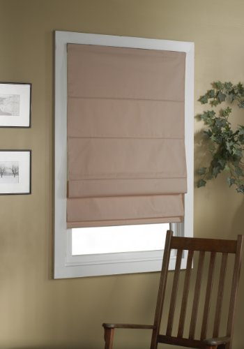 (Green Mountain Vista Thermal Blackout Cordless Roman Shade, 32 by 63-Inch,)