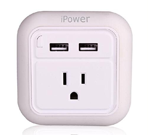 iWireless USA iPower Wall Charger Fast Charging With LED Night Light Dual USB Port For iPhone 6/7/7/8 plus/iPhone X/galaxy s7 s8/note 8 Android USB Wall Charger Multi Port (White-12pcs) by iWireless USA (Image #4)
