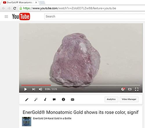 EnerGold® World's ONLY Pure-Gold-Based M-State Monoatomic