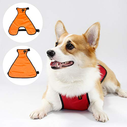 Smemek Cinture di Sicurezza per Cani Imbracatura per Animali Domestici con Cintura di Sicurezza per Viaggio e Uso Quotidiano Cinghia Elastica Regolabile e Gilet (S, Arancia)