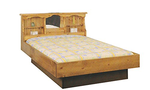Waterbeds Pine (Strobel Organic Salem Complete Waterbed Premium Solid White Pine Walnut Finish Super Single)