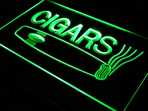 ADVPRO Cartel Luminoso i073-g Open Cigars Cigarette Bar ...