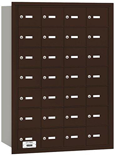Salsbury Industries 3628ZRU 4B Plus Horizontal Mailbox, 28 A Doors, Rear Loading, USPS Access, Bronze