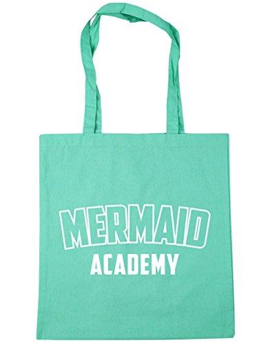 HippoWarehouse Mermaid Academy Tote Shopping Gym Beach Bag 42cm x38cm, 10 litres Mint