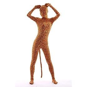 - 41KhPpnOPJL - Animal Costume Leopard Pretend Play Rabbit Ear Kids Zentaisuit Lycra Spandex Bodysuit
