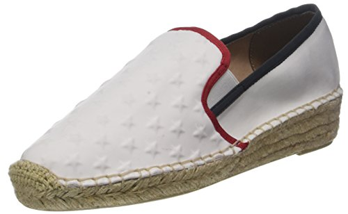 On Blanc Femme Hilfiger Slip Corporate Tommy rwb Espadrille 020 BvqZA