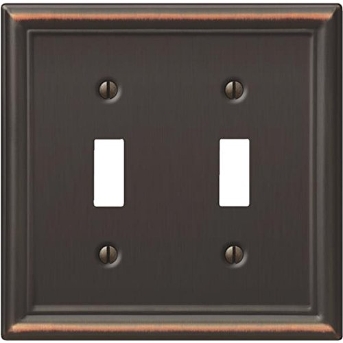Creative Accents Wall Plate Antique Bronze Chelsea 2 Toggle Carded (Creative Accents Wall Plate)