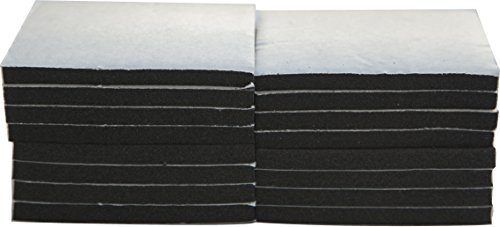 XCEL Foam Rubber Padding 16-Piece Acoustic Damper Anti-Vibration Closed-Cell Pads w/Adhesive, (Best Sound Absorbing Carpets)