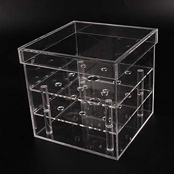 ArgoBa Caja Transparente de acrílico de la Flor de Rose Caja de ...