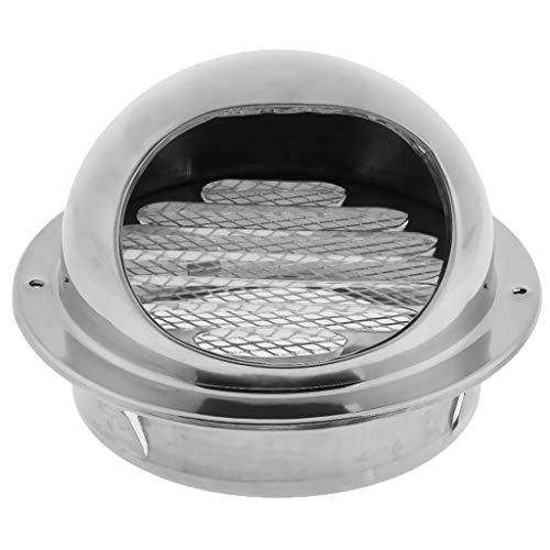 Flameer Ball Air Vent Cover Grille Outlet Exhaust Port, Built-in Thickened Stainless Steel 304 Grille, Effectively Isolate Debris and Dust - 120mm