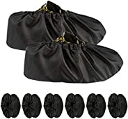 6 Pairs Reusable Shoe Covers Non Slip Waterproof Boot Covers for Household Carpet Floor Protection Machine Was