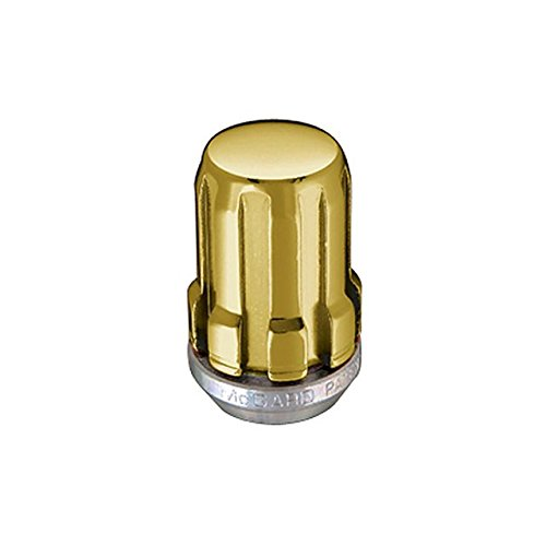 Eldorado Gold Finish - McGard 65002GD Chrome/Gold SplineDrive Lug Nuts (M12 x 1.5 Thread Size) - Box of 50