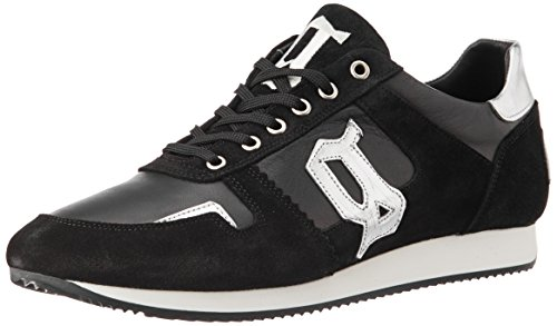 Galliano Men's Black Leather Running Shoes