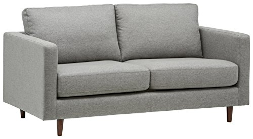 "Rivet Revolve Modern Sofa Bed, 70""W, Grey Weave"