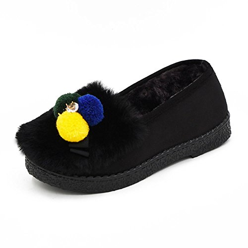 Cotton Female Platform Slippers Warm Month Shoes Bags and Slippers 4 Colors Available Size Optional A RKkPVHj