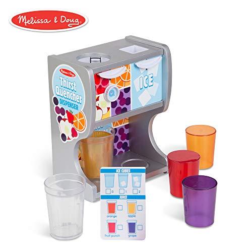 Doug Pizza - Melissa & Doug Wooden Thirst Quencher Drink Dispenser (10 Pieces)