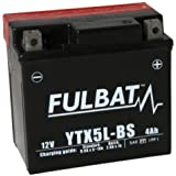 Fulbat - Batterie moto YTX5L-BS étanche 12V / 4Ah