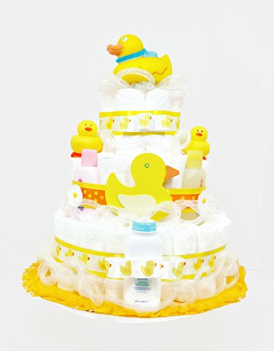 Suds & Bubbles Bath Time Ducky Gender Neutral Baby Diaper Cake by As Your Baby Grows Gift Boutique