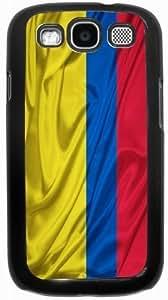 Rikki KnightTM Colombia Flag - Black Hard Case Cover for Samsung? Galaxy i9300 Galaxy S3
