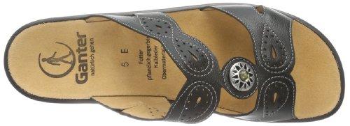 Ganter Sonnica Weite E 7-202891-01000 - Zuecos de cuero para mujer, color negro, talla 36 Negro (Negro 0100)