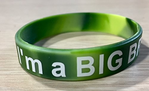 I'm a Big Brother/I'm a Big Sister Silicone Wrist Band Bracelets - Sibling Announcement Gift (Green - Big Brother)