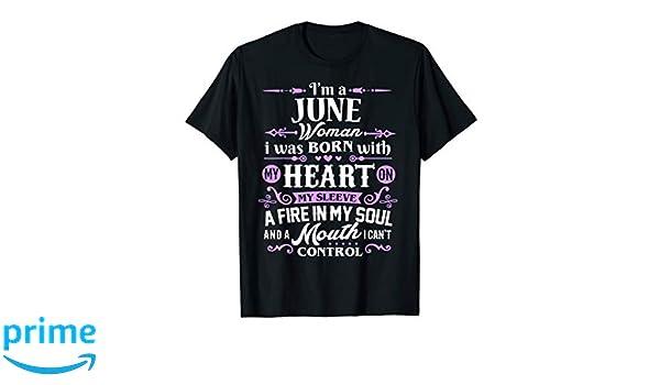 f9793cc8531 Amazon.com  I m a June Woman T-Shirt Birthday Gift Shirt  Clothing