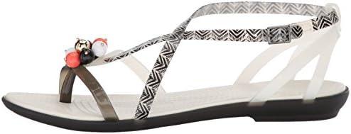 Crocs Drew Barrymore Isabella Gladiator Sandal Black White