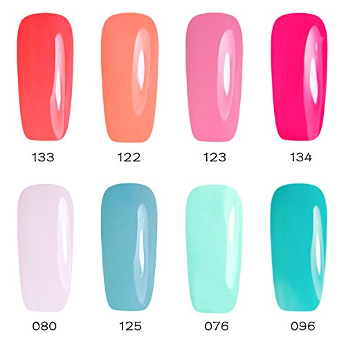 Gellen Soak Off UV/LED Gel Nail Polish 8 Colors Set - Nail A