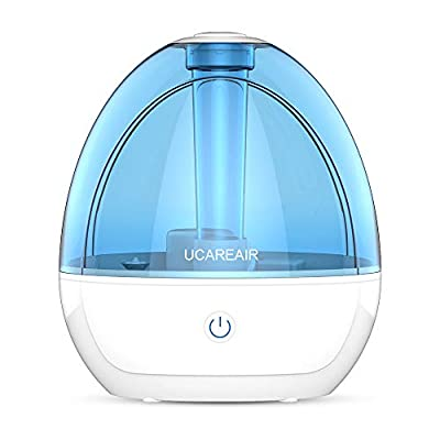 Cool Mist Humidifier – Room Humidifier for Bedroom Baby, Super Quiet Mist Humidifier with High Low Mist Output, Waterless Auto-off, Night Light, Filterless Humidifiers for home office, ETL Approved