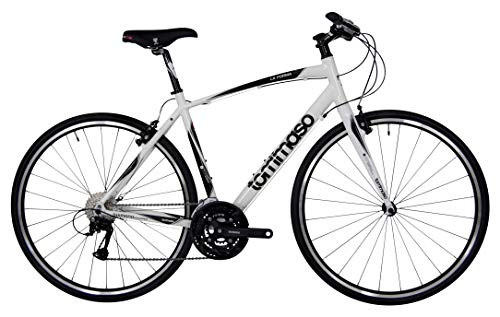 Tommaso La Forma Lightweight Aluminum Hybrid Bike -White/Black - Medium