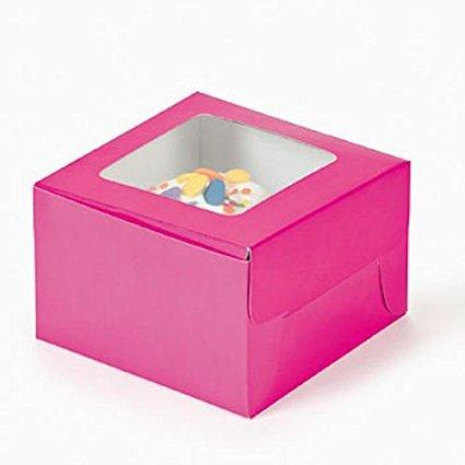 Fun Express Hot Pink Cupcake Boxes (24 (Princess Cupcake Boxes)
