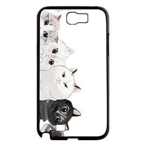 Hjqi - Customized Tabby Cat Phone Case, Tabby Cat Personalized Case for Samsung Galaxy Note 2 N7100